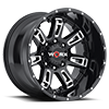 808 Beast II Gloss Black with Milling and Clear Coat - 20x12
