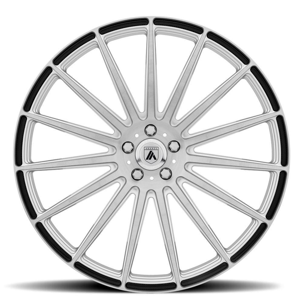 20x8.5 Asanti Black ABL-14 Polaris Matte Graphite Wheels 5x112 Set of 4 38mm