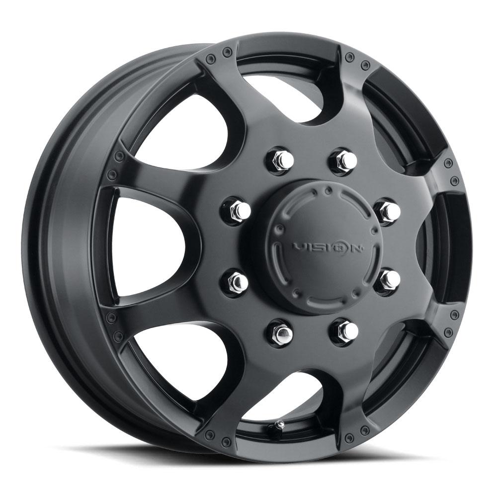 "Vision 181 Hauler Dually Front 17x6.5 8x6.5/"" Matte Black Wheel Rim 17/"" Inch"